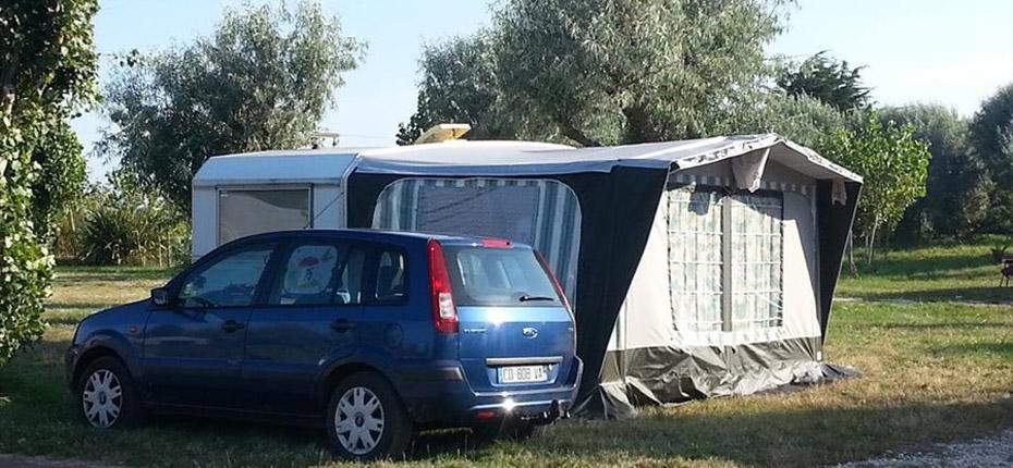 Emplacement au camping à Oléron