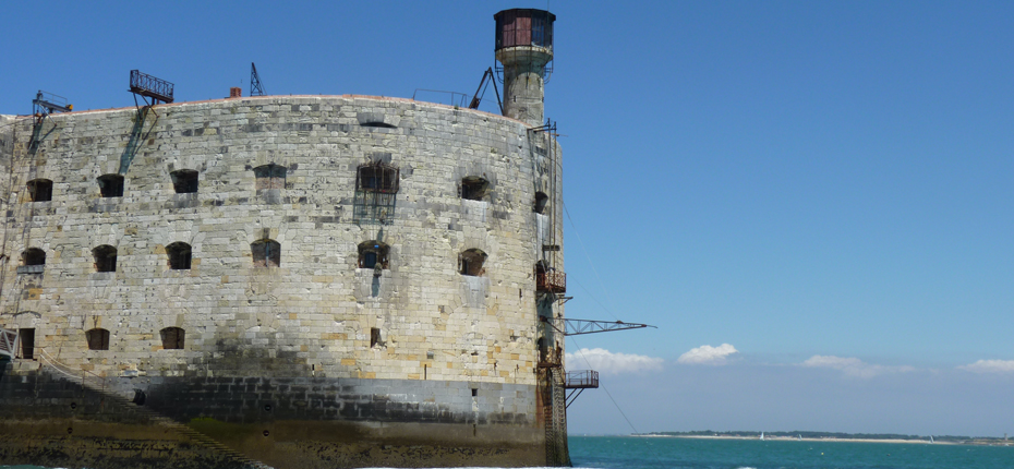 Depuis Saint Denis d'Oléron, la vue sur Fort Boyard