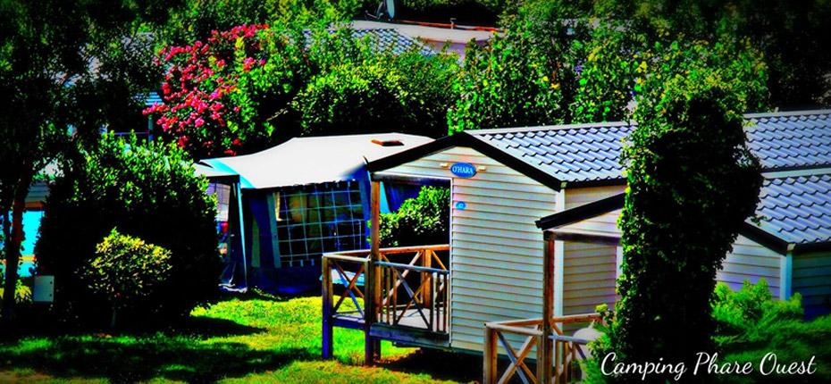 location mobile home 4 pers avec terrasse couverte au camping d'Oléron