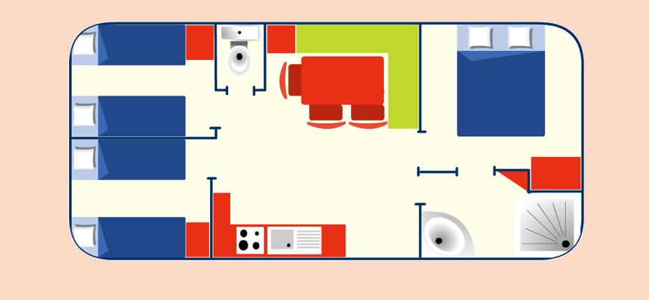 Plan de votre mobil-home à Saint Denis d'Oléron