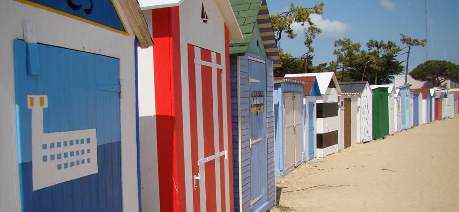 Les cabanes de plage à Oléron
