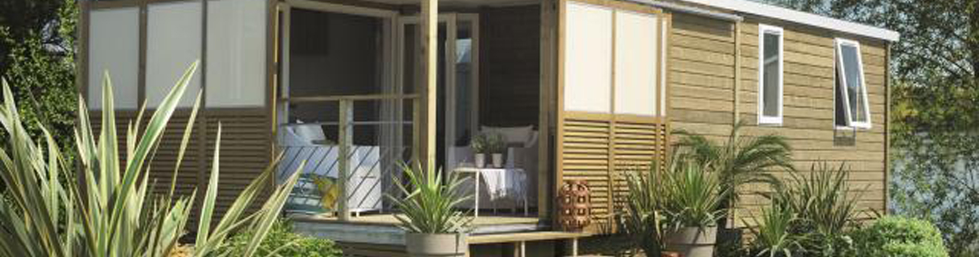 location mobil-home 3ch 6pers terrasse couverte camping ile d'Oléron